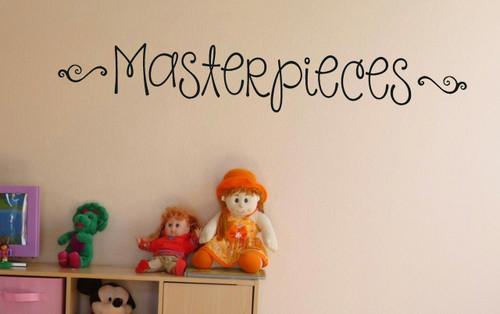 Masterpieces Wall Art Vinyl Decal Room Brown