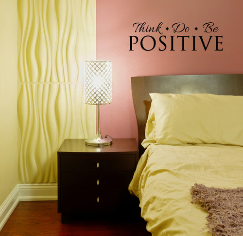 Think Do Be Positive Inspirational Wall Decal Quote Room Pic