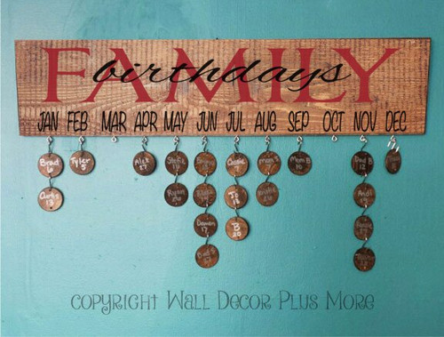 Family Birthdays Board with Vinyl Stickers DIY Project-Red, Black