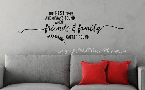 Wall Decal Sticker Lettering Friends Family Gather