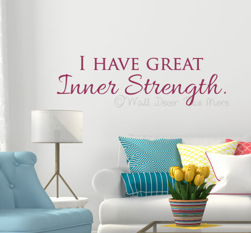Wall Decal Quote Letter Saying Affirmation Inner Strength-Berry