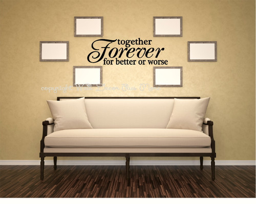 Wedding Wall Decal Vinyl Sticker Love Quote Vows