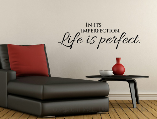 Affirmation Quote Wall Decal Sticker Graphic Art Vinyl Sticker-Black