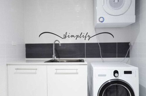 Simplify Inspirational Wall Decal Quote Vinyl Sticker Lettering-Black