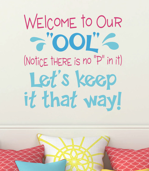 Vinyl Sticker Decal Lettering for Pool Area Funny Wall Art Sign Opt1