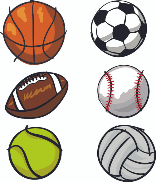 Sports Balls Vinyl Sticker Boys Fabric Repositionable Wall Decal Art