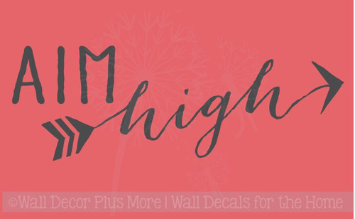 Aim High Inspirational Quote Encouraging Words