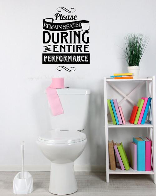 Funny Toilet Performance Vinyl Decal for Bathroom Decor
