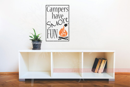 Campers have S'more Fun Camp Fire Wall Art Vinyl Sticker Decal