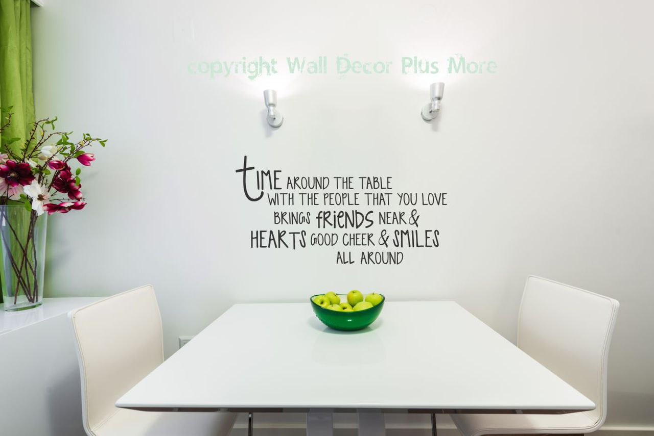 Time Around The Table Kitchen Stickers Quote Dining Room Decor