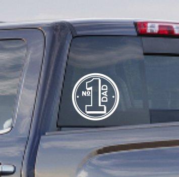 Da006 m dm006 m number 1 one dad truck car window decal sticker white 80891 1555600483 jpgc2imbypasson