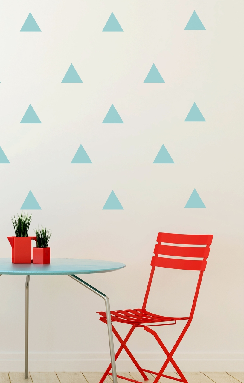 Triangle wall decal stickers shapes beach house 12pc peel n stick
