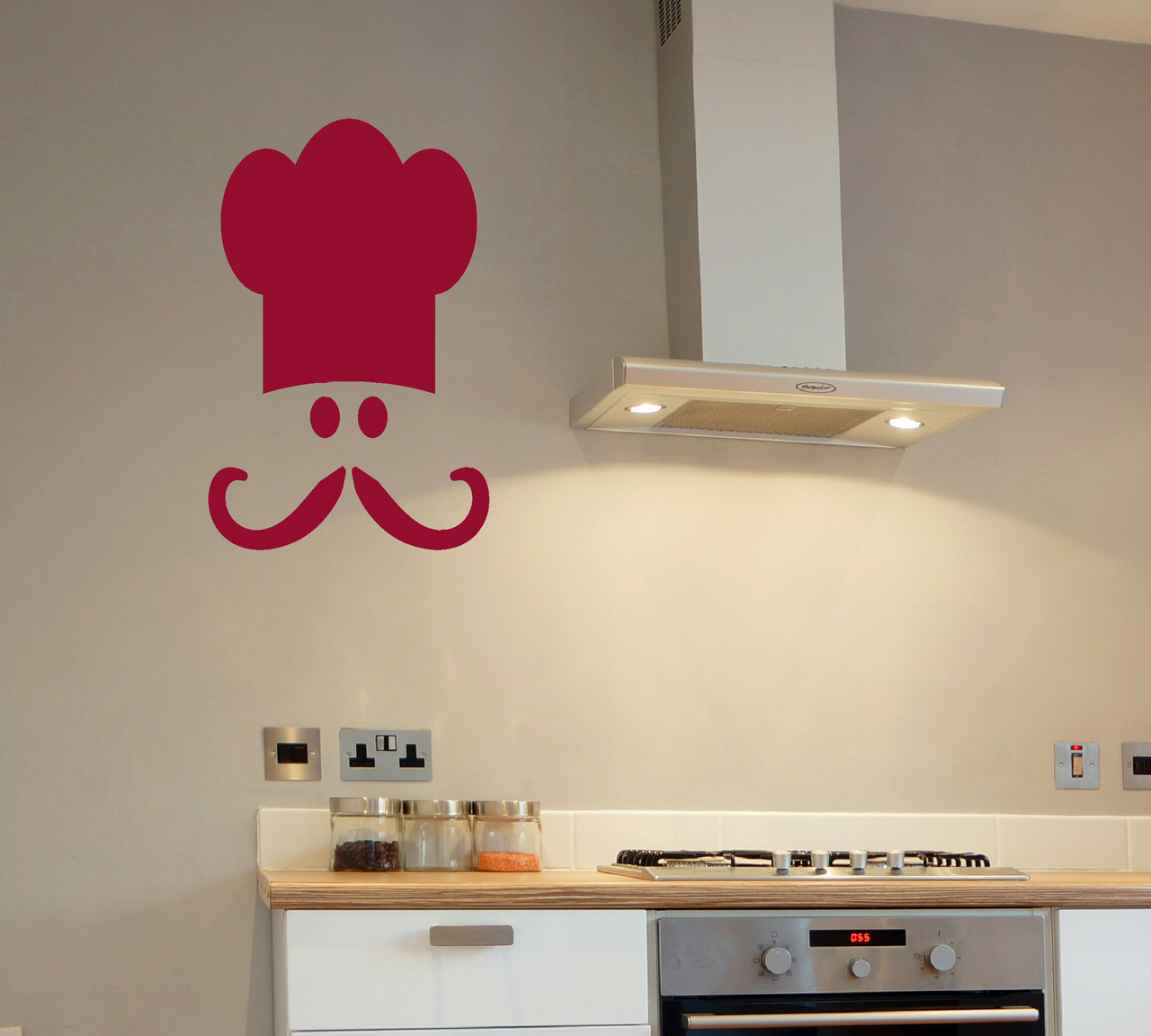 Chef S Face And Hat Kitchen Decor Wall Decal Sticker Art