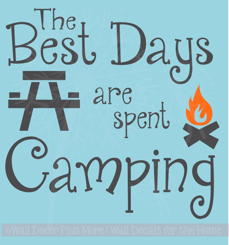 Vinyl Camper Quote Wall Decal Sticker Camping For When Five Stars Isn/'t Enough