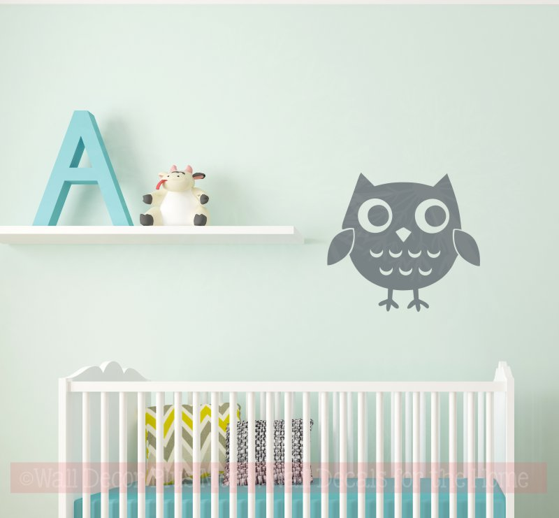 Owl Girls Vinyl Art Decals Bedroom Decor Nursery Wall Stickers