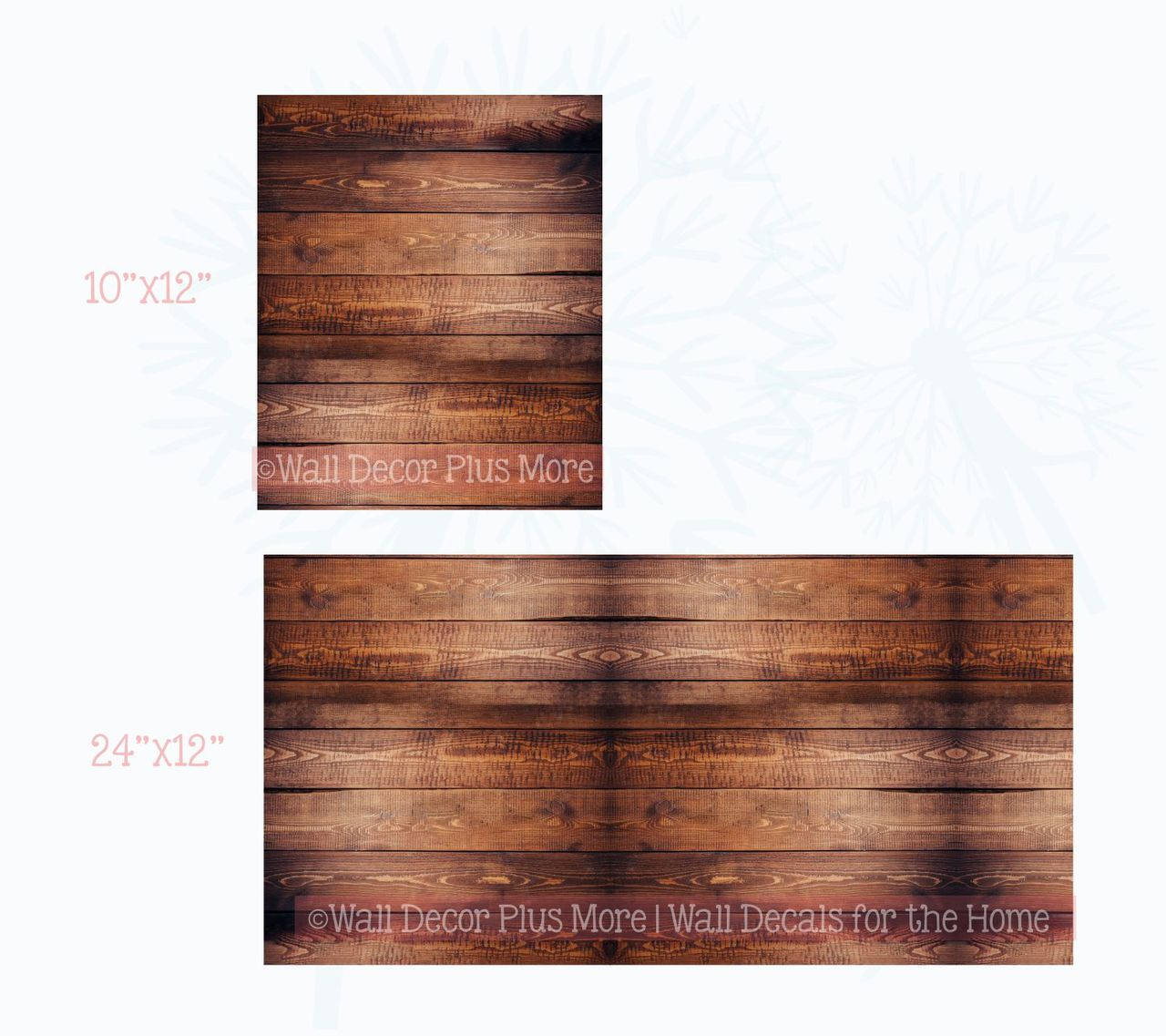 Printed Dark Walnut Wood Grain Vinyl Sticker Self-Adhesive Liner or Wall Art