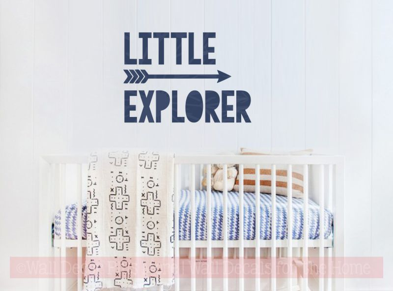 Little Explorer with Arrow Nursery Wall Stickers Vinyl Art Baby Decor