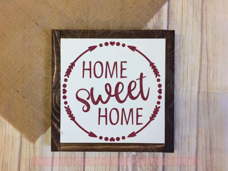 Home Sweet Kitchen Wall Art Stickers Vinyl Letter Decor Decals Burgundy