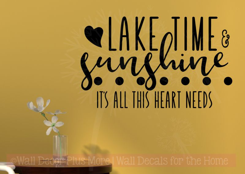Lake Time Sunshine Girl Bedroom Decor Quote Vinyl Lettering Wall