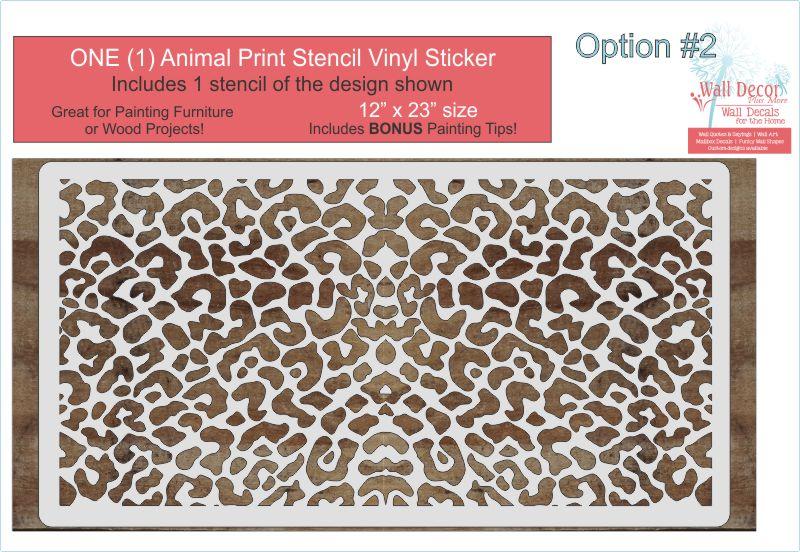 Animal Pattern For Stencil Diy Wood Home Decor Vinyl Art Stickers