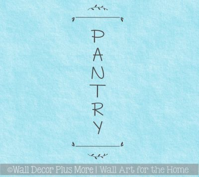 Pantry Wall Decal with Scalloped Corner Border Vinyl Wall Decor Kitchen Pantry Door Decor Home Kitchen Decor Kitchen Pantry Wall Lettering