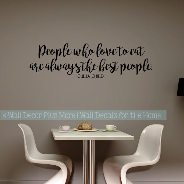 Kitchen Wall Stickers Best People Love To Eat Vinyl Lettering Decals