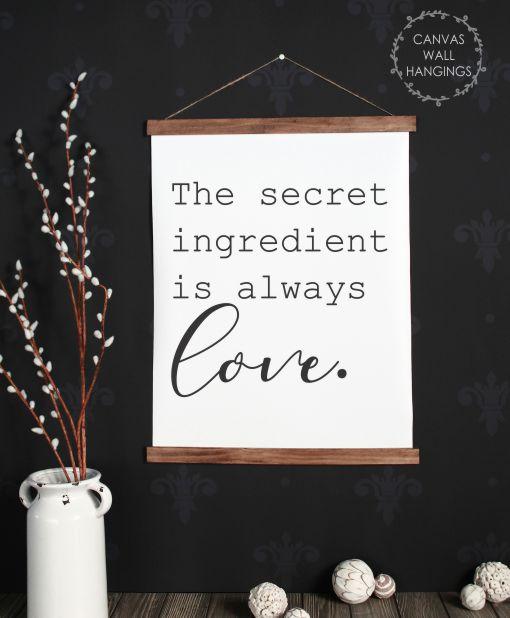 Bon 19x24   Wood U0026 Canvas Wall Hanging, Secret Ingredient Love Kitchen Wall Art