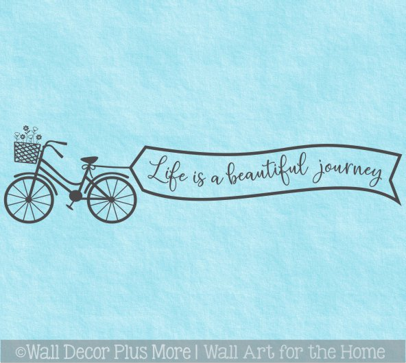 LIFE/'S A JOURNEY SKULL MOTORCYCLE WALL ART STICKER QUOTE DECAL MOTORBIKE BIKER