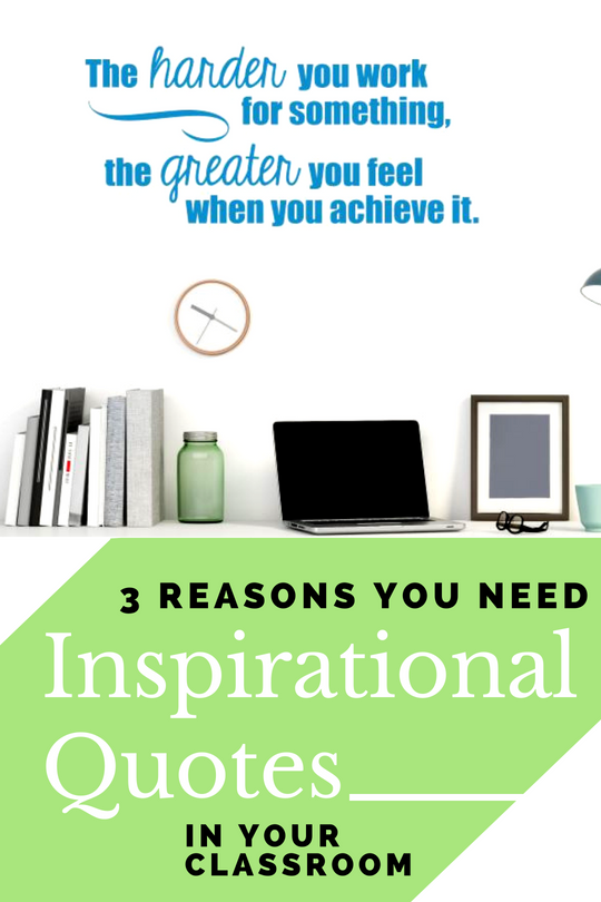 3 Reasons You Need Inspirational Quotes in Your Classroom