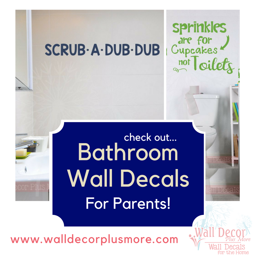 Bathroom Wall Decal Stickers for Parents!