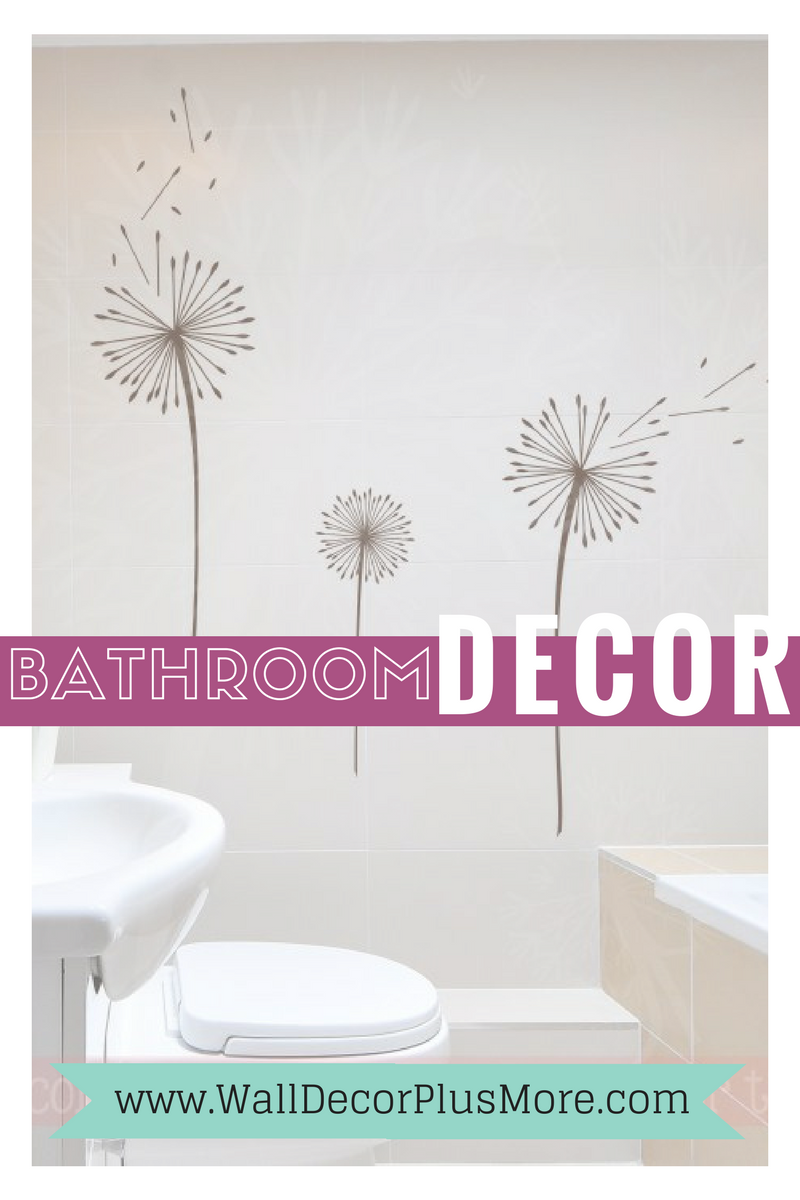 Wall Decals Stickers to Make Your Bathroom Your Own