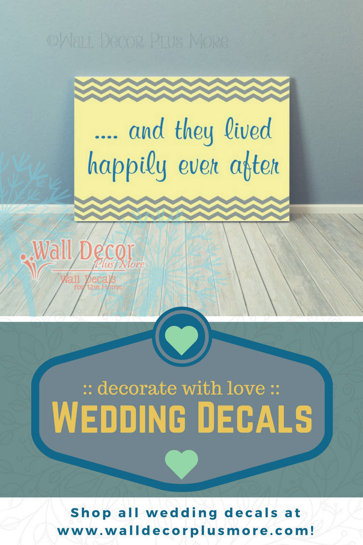 Wedding Decals: Decorate with Love