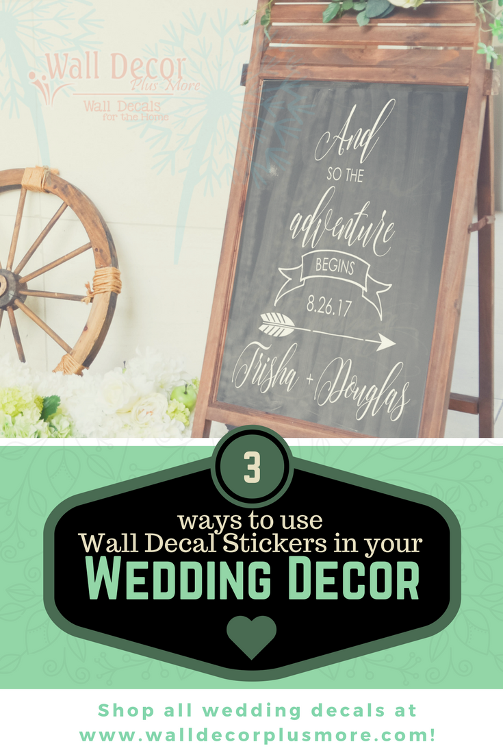 A Personal Touch: Decorating your Wedding with Decals