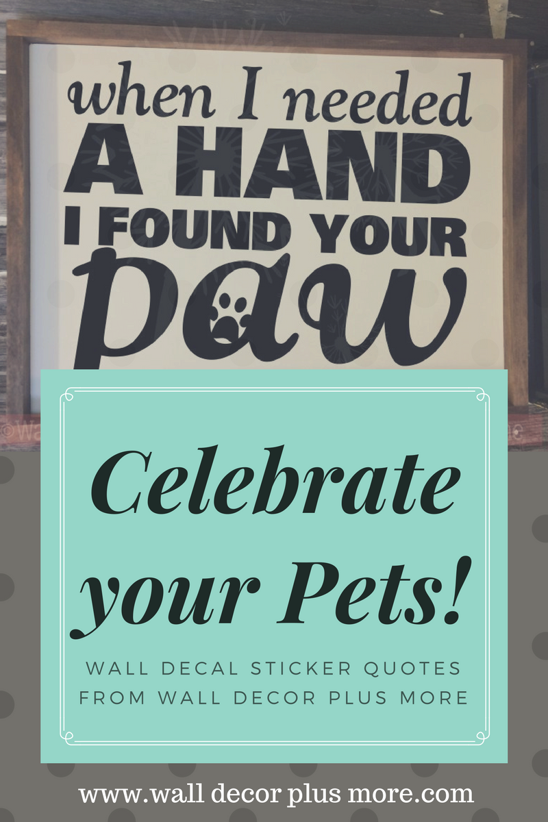 Celebrate Your Pets With Wall Decal Stickers