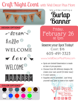 Our 2nd Craft Night Event Announced!