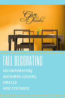 Autumn fall decorating and home decor tips