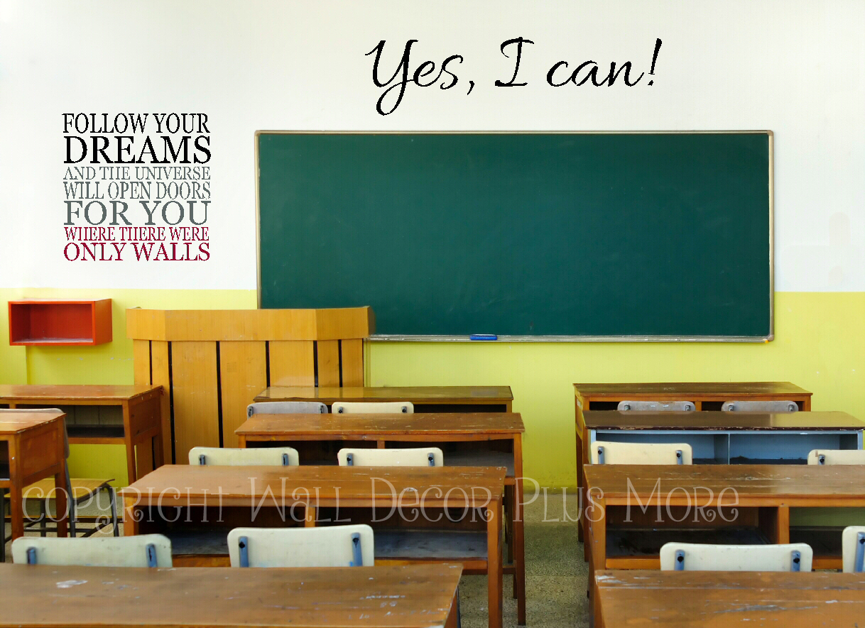 Teachers: Here are 5 Wall Decal Quotes Perfect for your Classroom