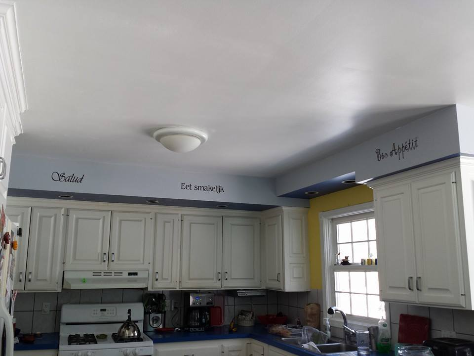 Wall Stickers used in Kitchen and Dining Area