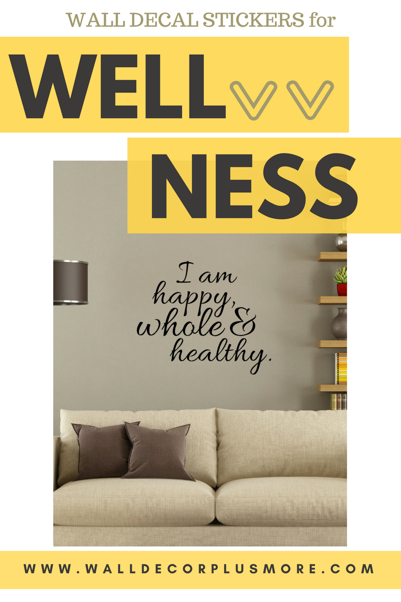Keep Your Resolution to Get Healthy with These Inspirational Decals