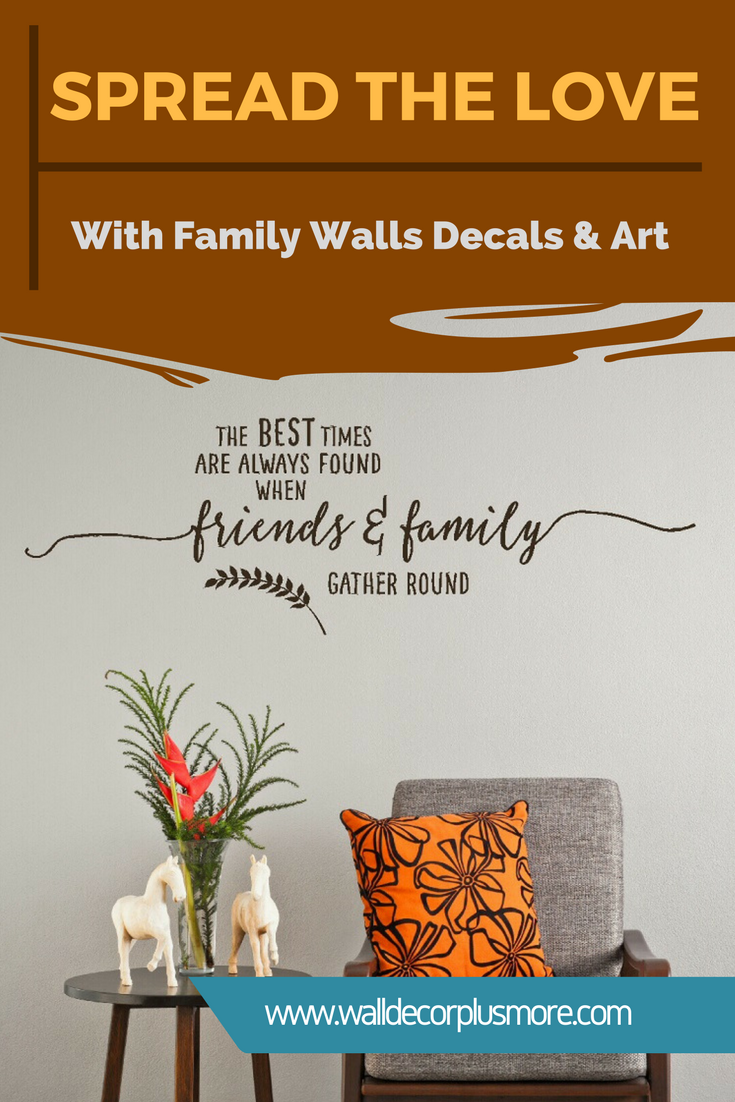 Spread the Love with Family Wall Decals & Art