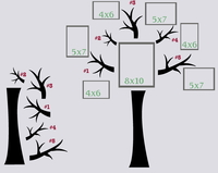 Using Tree Wall Stickers and Family Photos as Home Decor