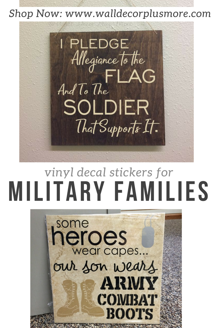 Military Wall Decor for Military Families