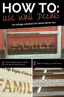 Using Old Windows with Wall Decals in Home Decor