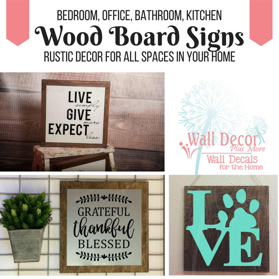 Wood Signs for Simple and Rustic Home Decor