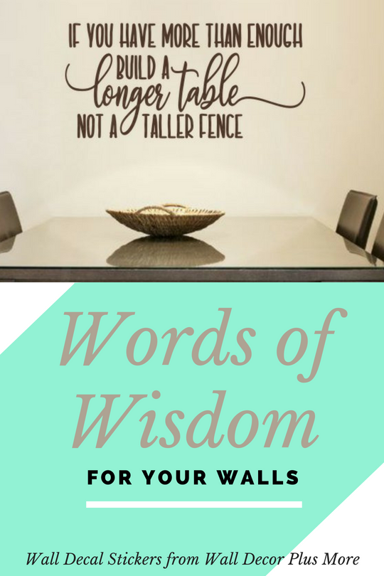 Words of Wisdom on Your Walls