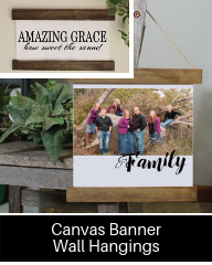 Click here for Wood & Canvas Wall Hangings for Home Decor
