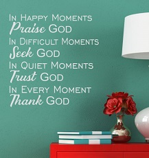 Christian Wall Decals Vinyl Stickers WD1078 Praise Thank God Religious Quotes