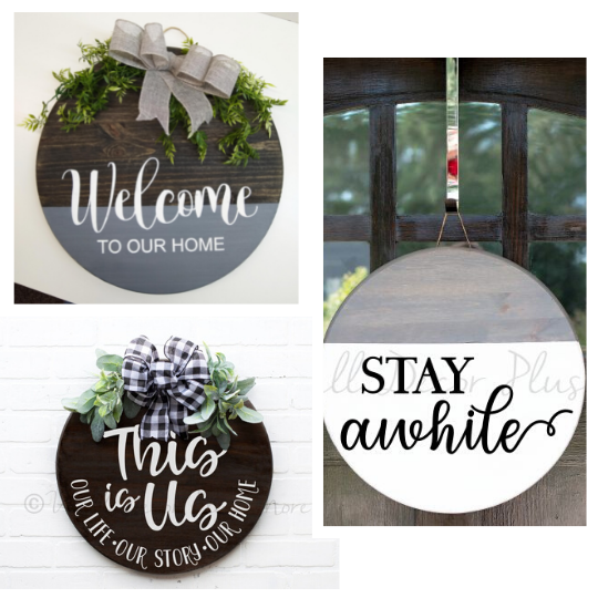 Decal Stickers for Round Wood Sign Plaques