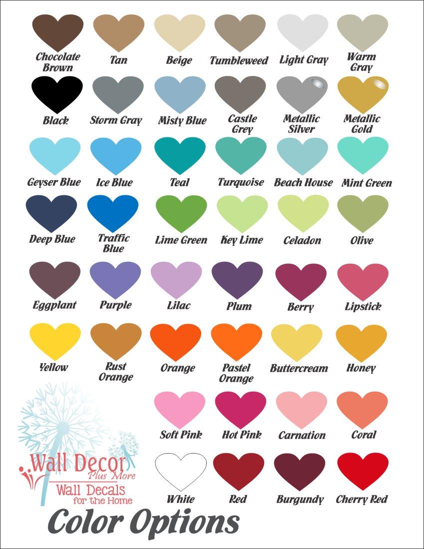 Matte Color Options  9-2021