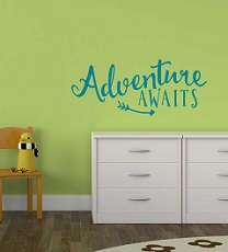 DA049-C Adventure Awaits Vinyl Wall Sticker Graduation Adventure Quote Decals